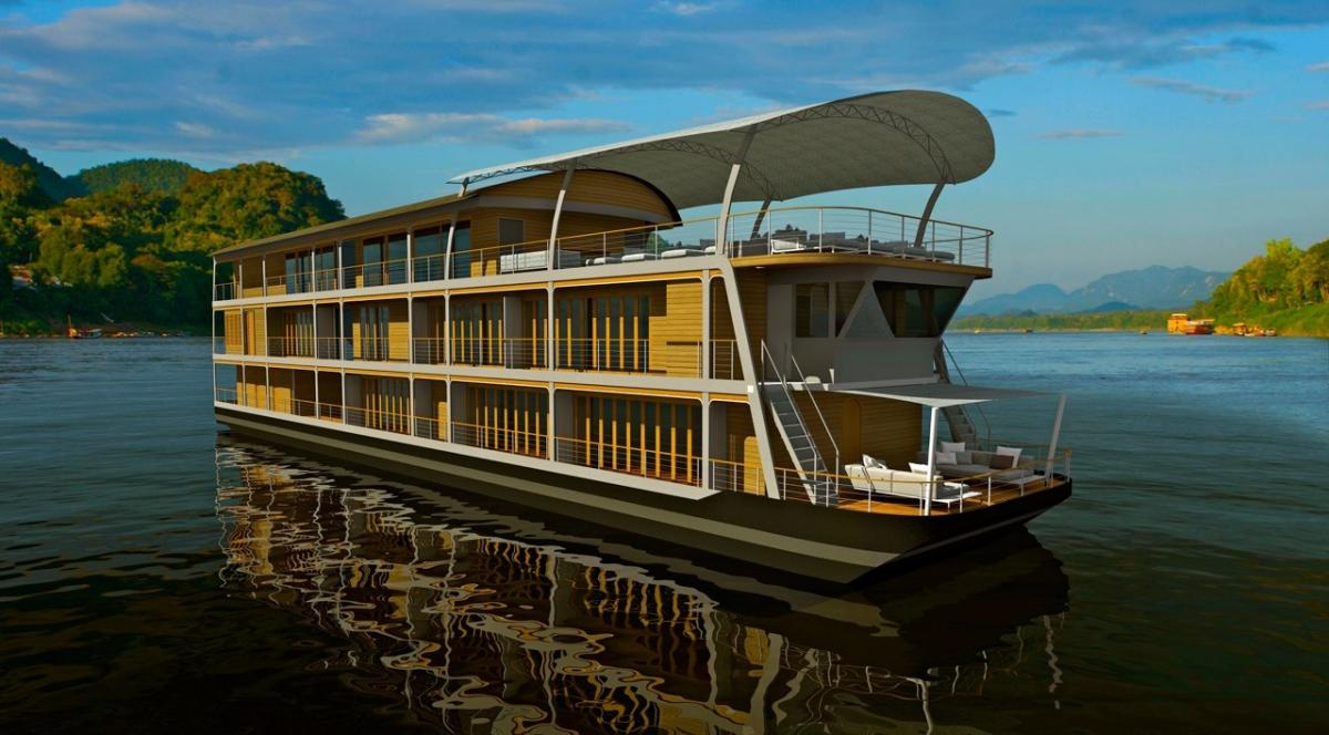 豪華メコン川の船旅