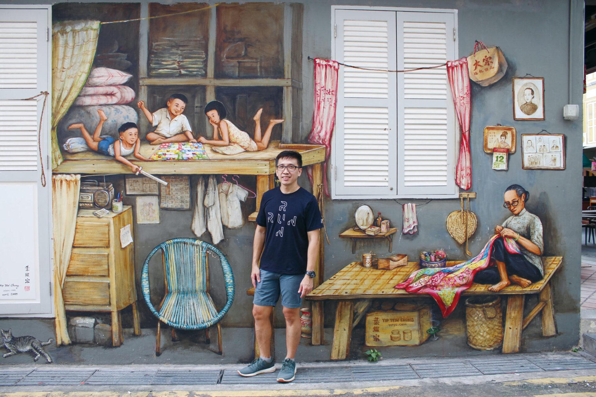 シンガポールの街角を彩る壁画アート〜会計士からアーティストへ転身した、Yew Chong Yip氏にインタビュー〜