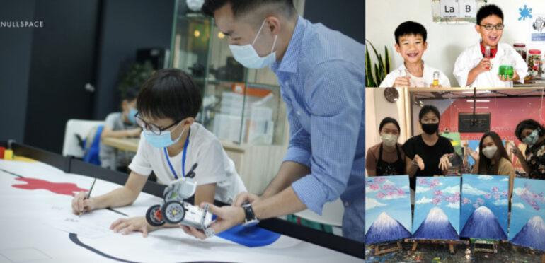 シンガポールのホリデーキャンプ ロボット、アート、サイエンスの3つのスクールを紹介