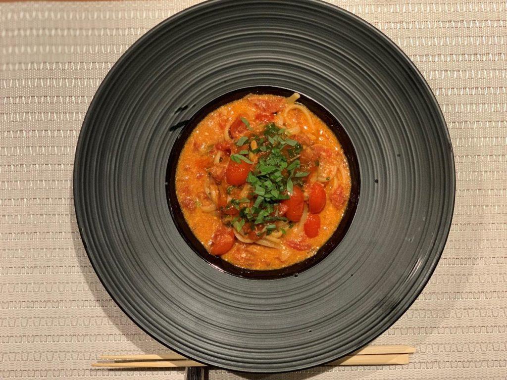 ペスカトーラロッサ 紫蘇とオマール出汁のパスタ
