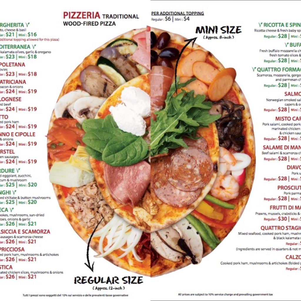 20種類以上から選べるピザ